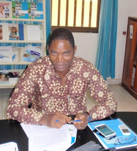Sidi Coulibaly pendant son mot introductif aux échanges
