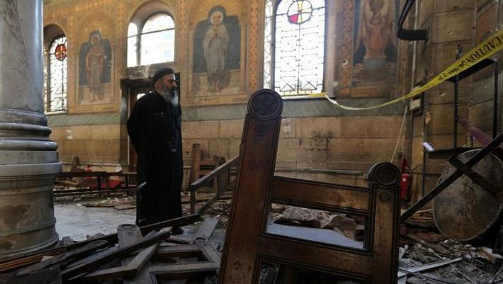 L'église Copte du Caire a été dévastée par cet attentat